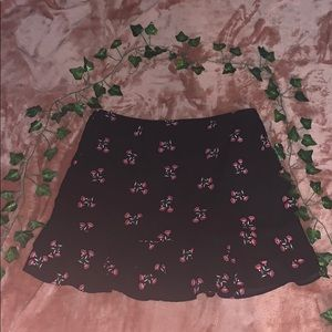 Urban Outfitters floral mini skirt
